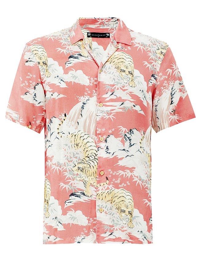 AllSaints Borneo印花襯衫,4400元。(AllSaints提供)