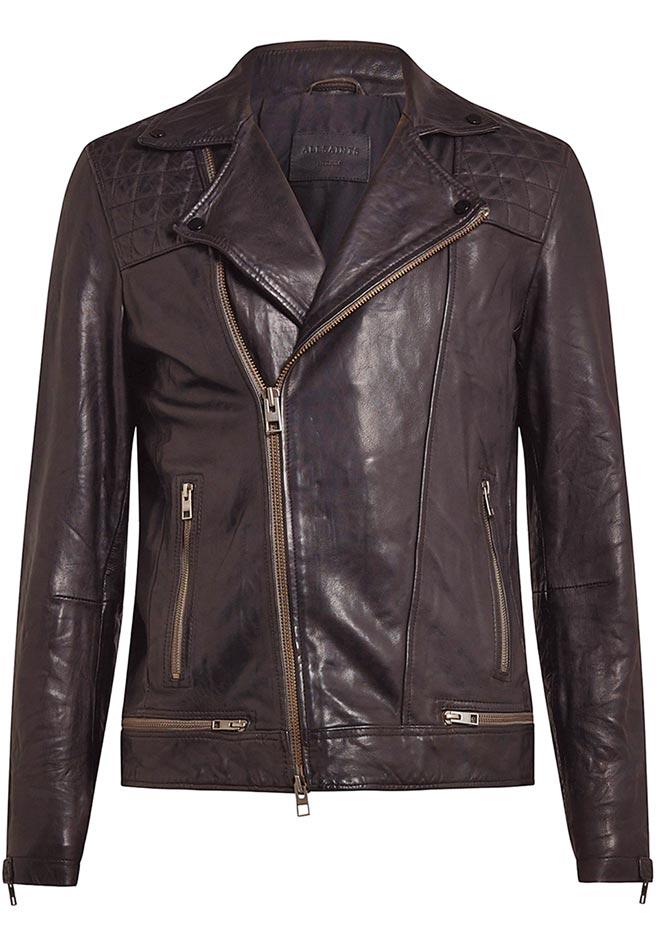 AllSaints Conroy騎士夾克,2萬200元。(AllSaints提供)
