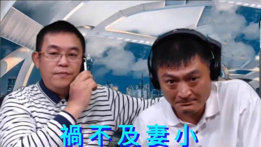有6、7個蒙面男子開著沒懸掛車牌的車到阿鴻家等著阿鴻(右)。菜農林佳新問,「這是高雄治安問題嗎?不!!!這是利益問題!!!」(林佳新臉書)