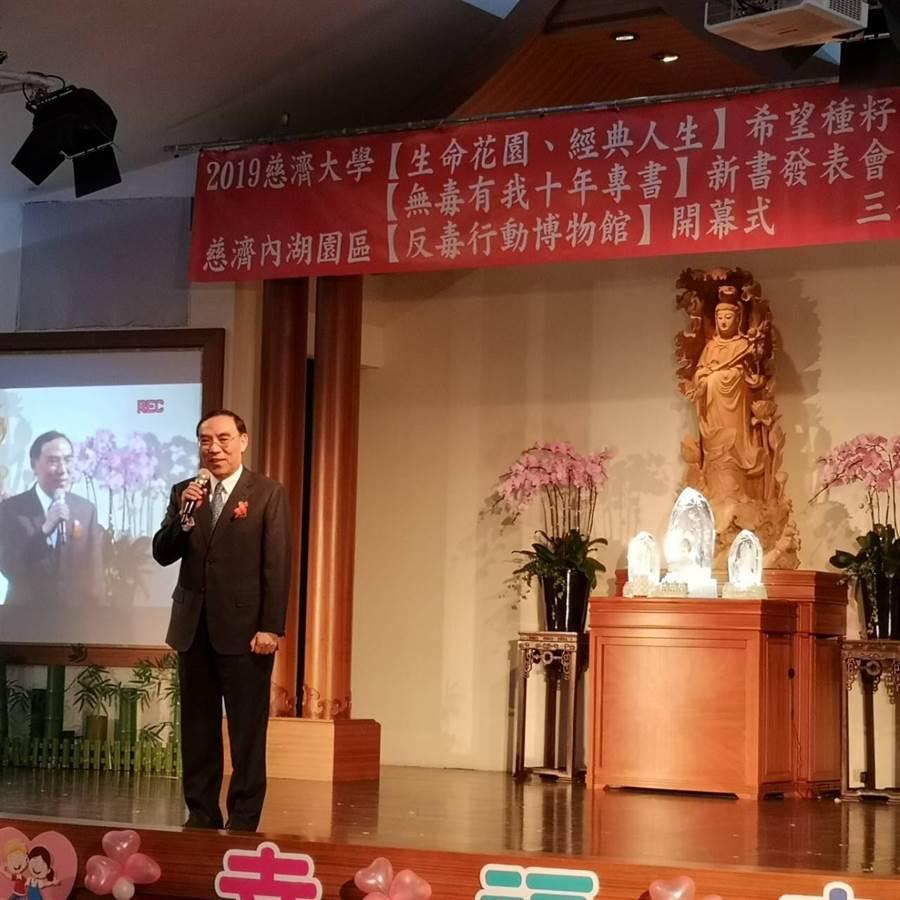 法務部長蔡清祥希望能拋磚引玉、偕同更多有志之士投入反毒工作。(法務部提供)