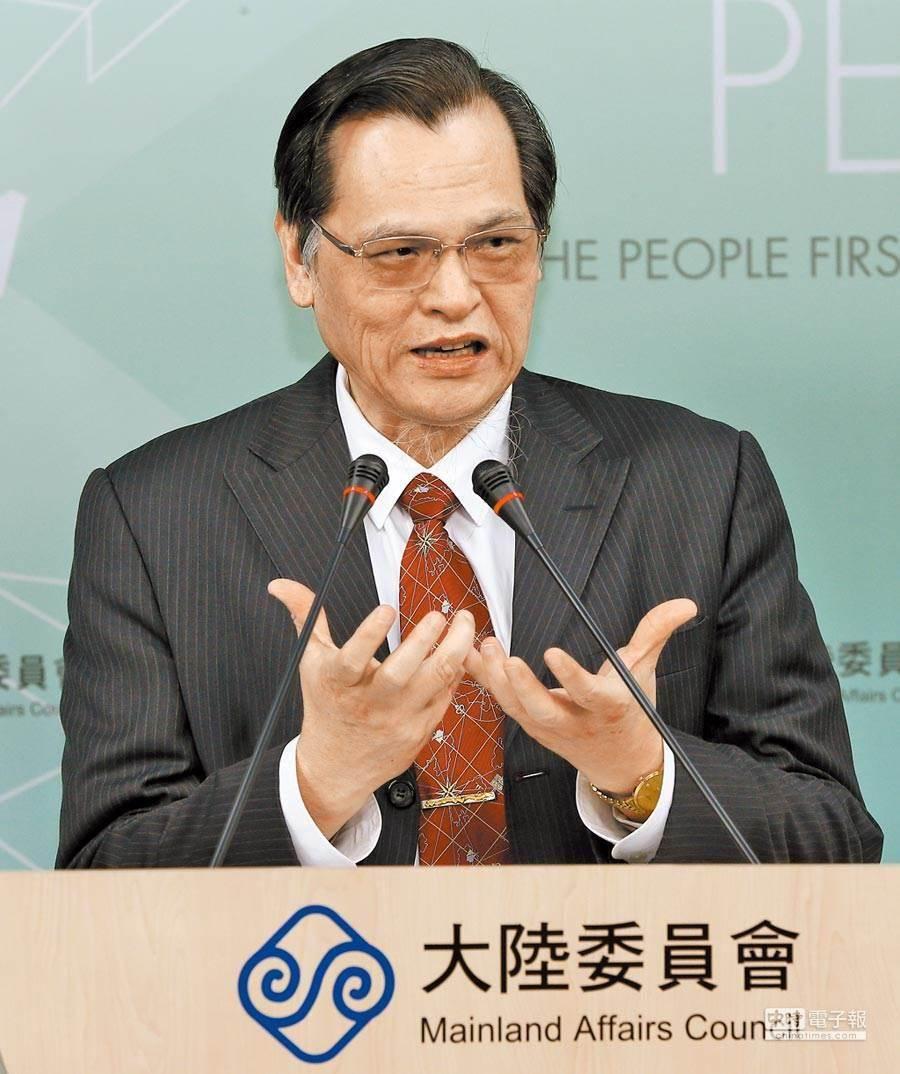 陸委會主委陳明通。(中時資料照)