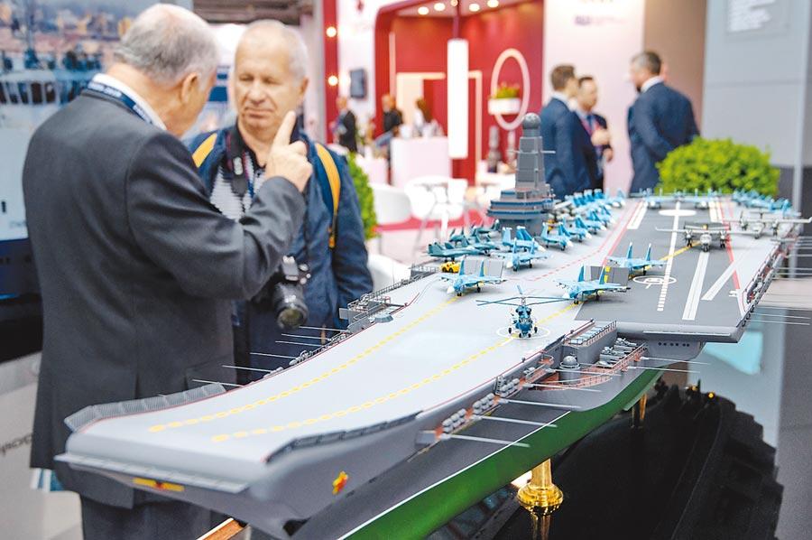 7月10日,「2019年國際海上國防展」在俄羅斯聖彼得堡舉行。(CFP)