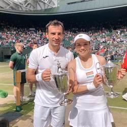 溫網》詹詠然直落二混雙奪冠 生涯4奪大滿貫金盃