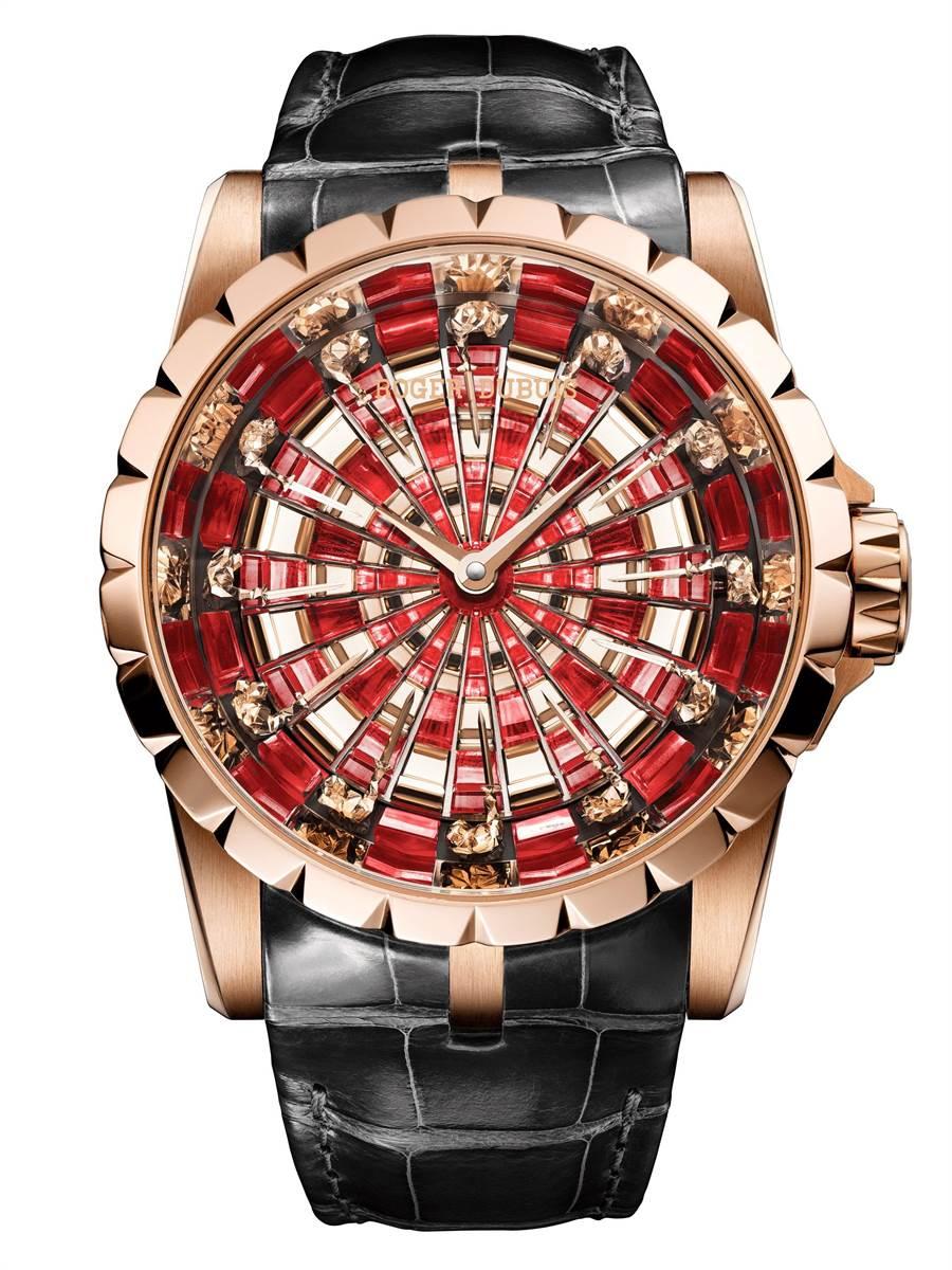 羅杰杜彼新款Excalibur Knights of the Round Table IV圓桌騎士腕表,870萬元。(Roger Dubuis提供)