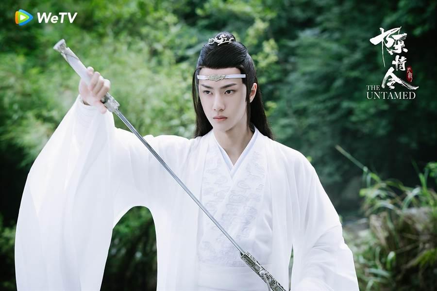 王一博在《陈情令》角色个性端庄。