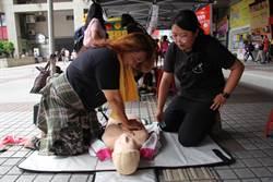 弘光東協廣場辦活動  移工闖關學保健及CPR