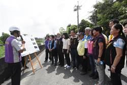 颱風雨季將至 王惠美視察南彰化排水整治工程
