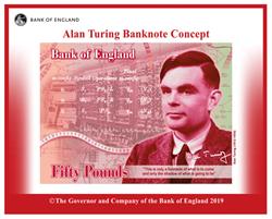 現代電腦之父 破解密碼大師圖靈 登英國50鎊新鈔