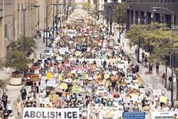 美爆示威遊行 大城拒配合取締 川普下令 全面搜捕非法移民