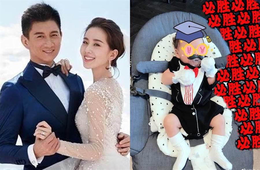 吳奇隆和劉詩詩4月終於升格當爸媽。(圖/翻攝自微博)