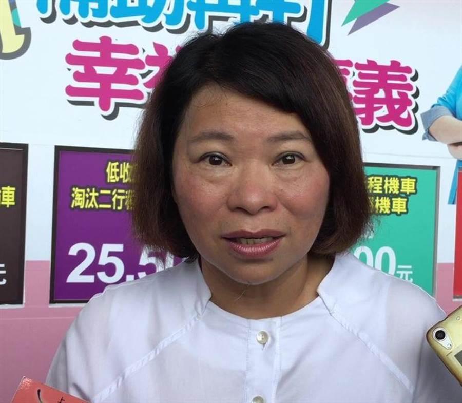嘉義市長黃敏惠疾呼團結,讓台灣變得更好。(廖素慧攝)
