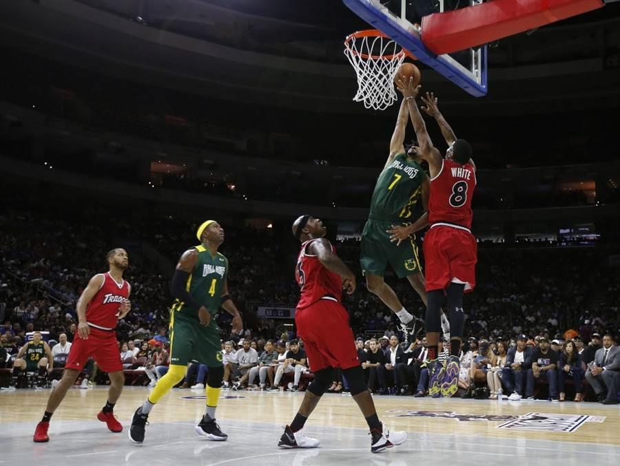 美國3對3籃球聯盟「BIG3」進行比賽。(美聯社資料照)
