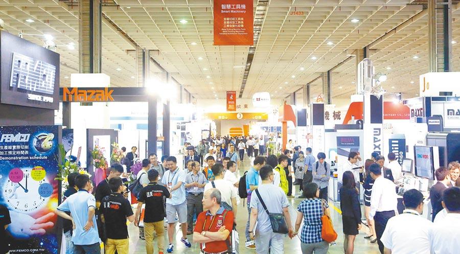 台北國際智慧機械暨智慧製造展(iMTduo)熱絡,為參展業者帶來龐大參觀人潮與滾滾商機。圖/業者提供