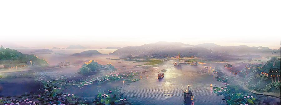 《陳情令》用「晉風唐韻」的美學調性為觀眾打造一個新武俠世界。(取自豆瓣網)