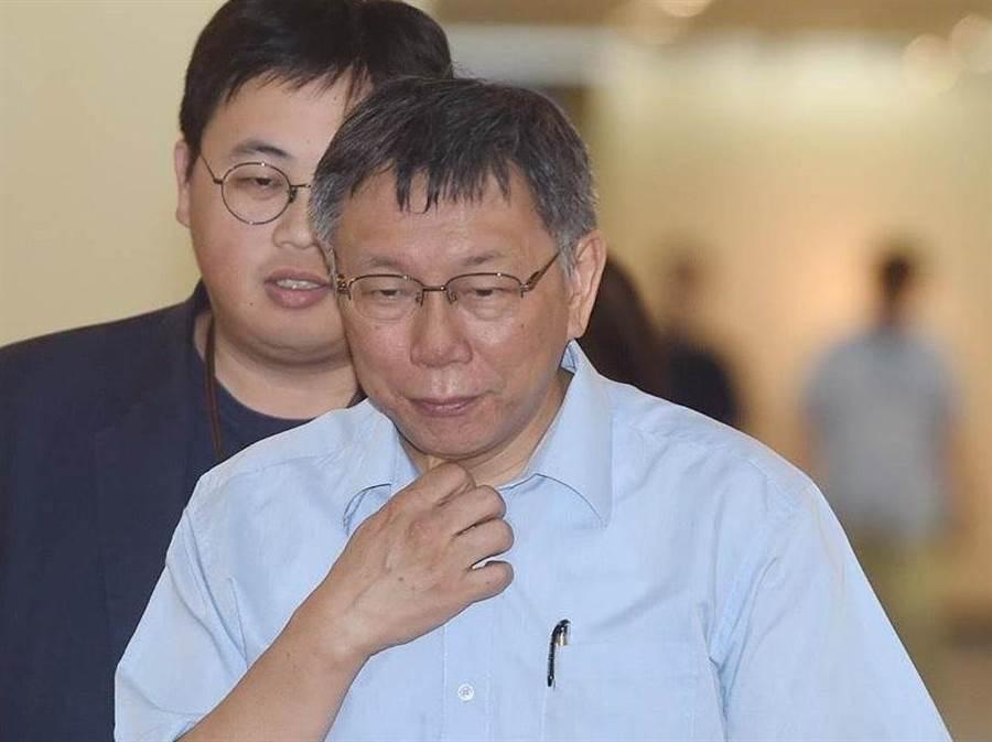 台北市長柯文哲。(資料照,陳怡誠攝)