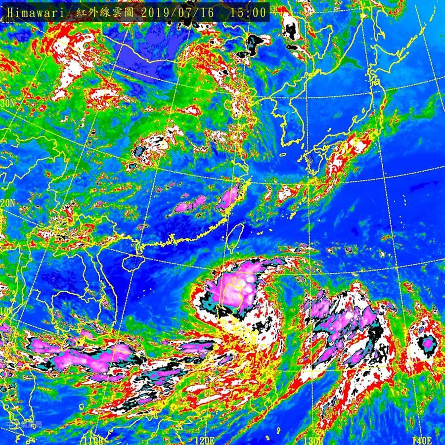 圖為紅外線雲圖。(氣象局)