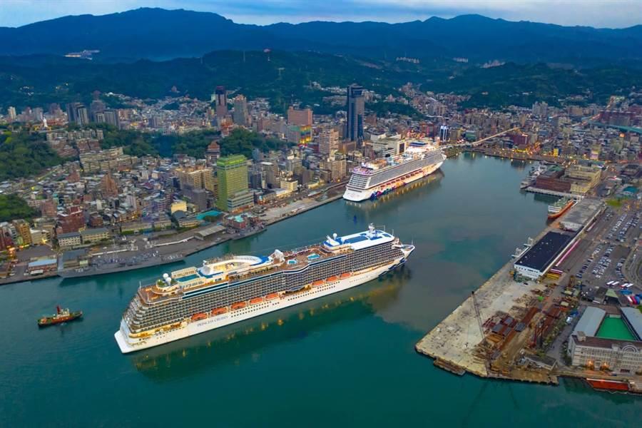 台灣港務公司今(19)日指出,盛世公主號今年替基隆港帶來27航次、創造入出港旅客達21.7萬人次。(台灣港務公司提供)