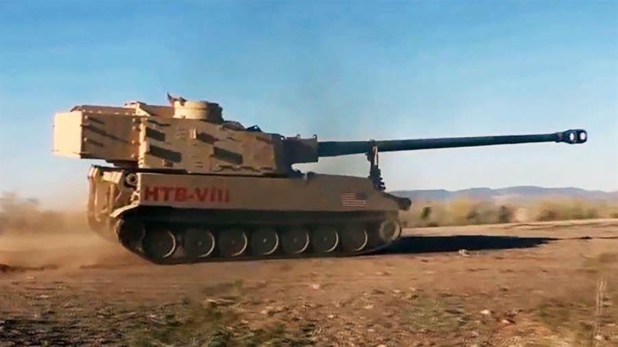 2018年12月,一輛安裝長砲管的M109A6,在亞利桑那州尤馬試驗場進行測試。(圖/美國陸軍)