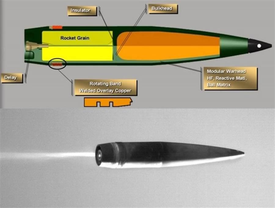 XM113是一種彈底吹氣彈,可以增長砲彈射程。(圖/美國陸軍)