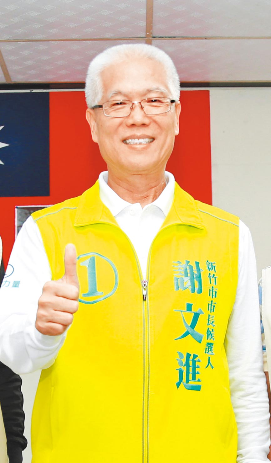 新竹市議會前議長謝文進,將是韓國瑜競選總統在新竹地區重要的聯絡窗口。(羅浚濱攝)