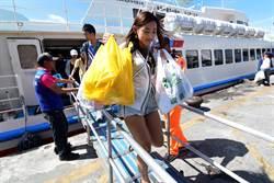 丹娜絲颱風進逼 綠島遊客大撤退