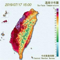苗栗38.7度高溫紫爆 鄭明典:伴隨低壓東風更強