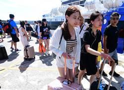 客輪疏運2000多名遊客 蘭嶼綠島停班停課