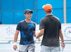 台塑盃網賽》「跨世代組合」沒隔閡 男雙首輪過關