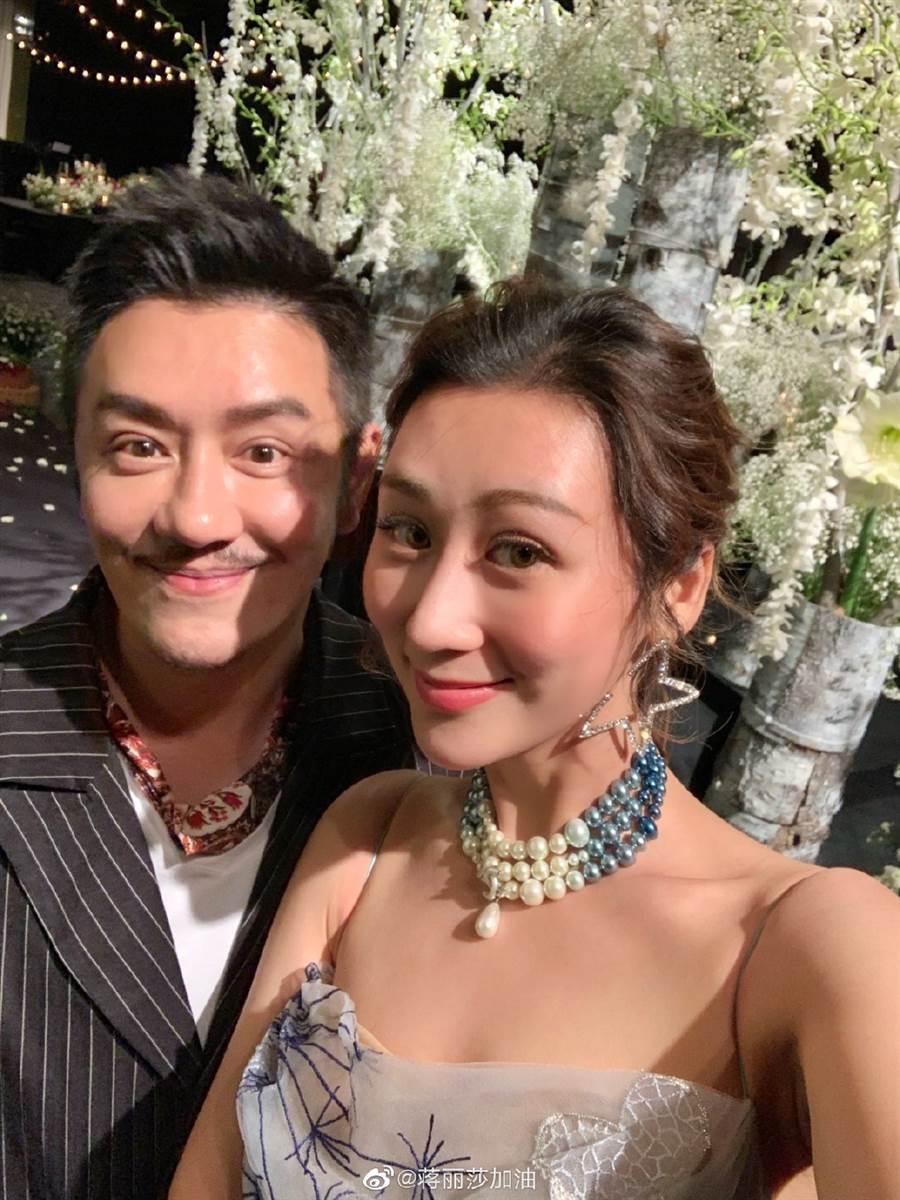陳浩民與妻子蔣麗莎感情恩愛。(取自蔣麗莎微博)