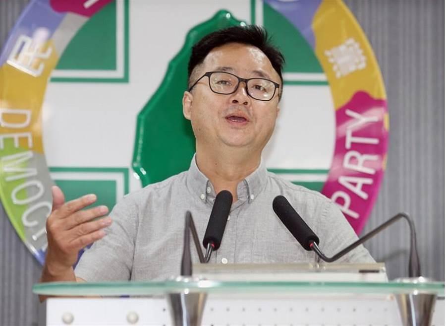 民進黨秘書長羅文嘉。(姚志平攝)