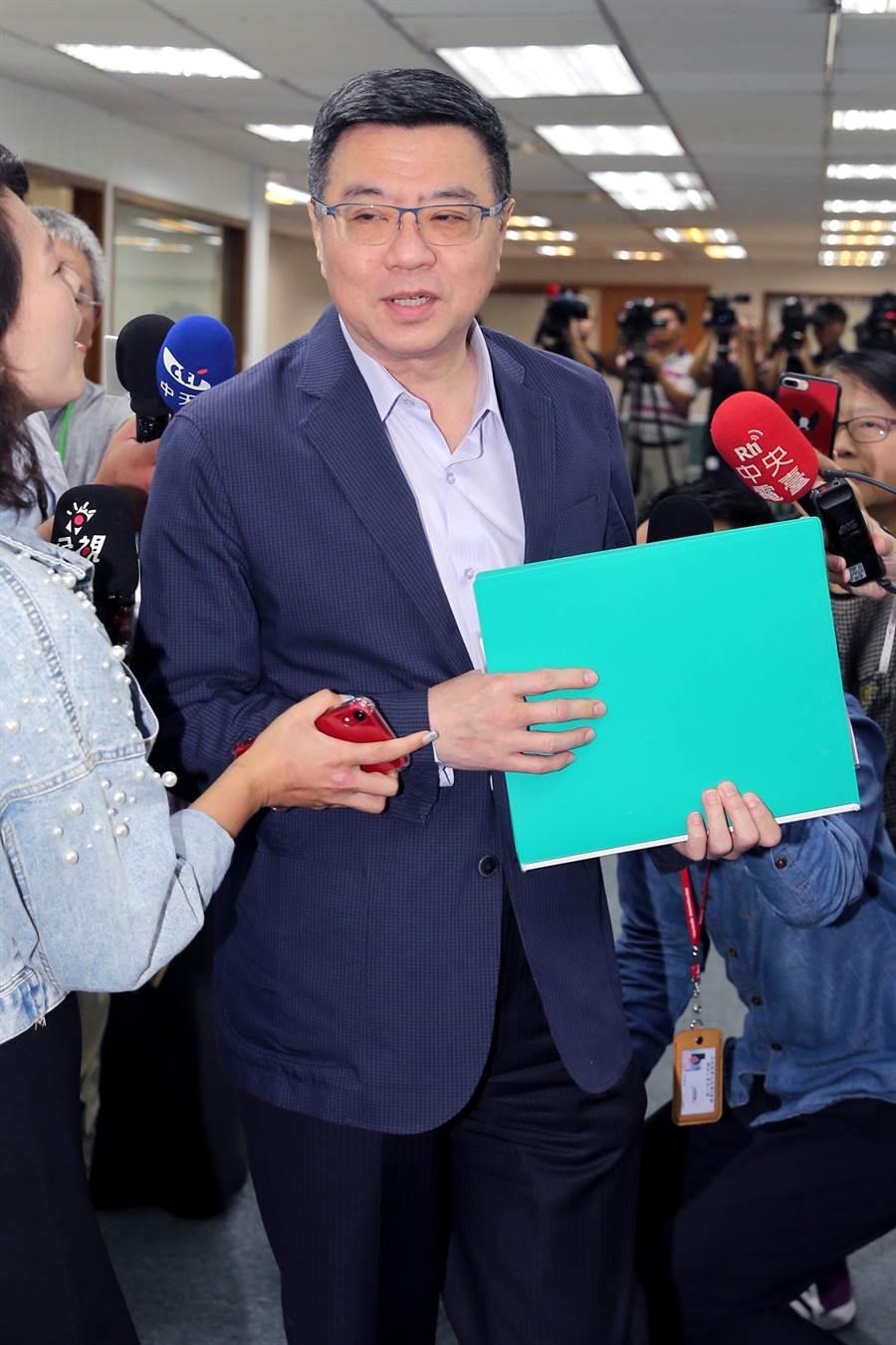 民進黨主席卓榮泰。(黃世麒攝)