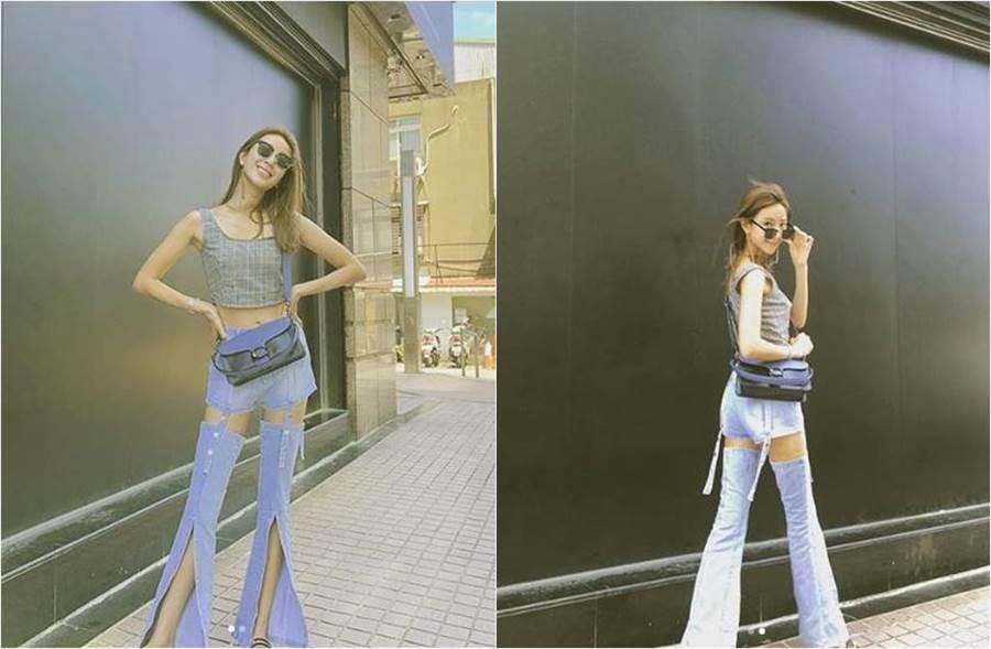 隋棠PO颱風文,但她一身穿搭反成為話題。(圖/取材自隋棠Instagram)
