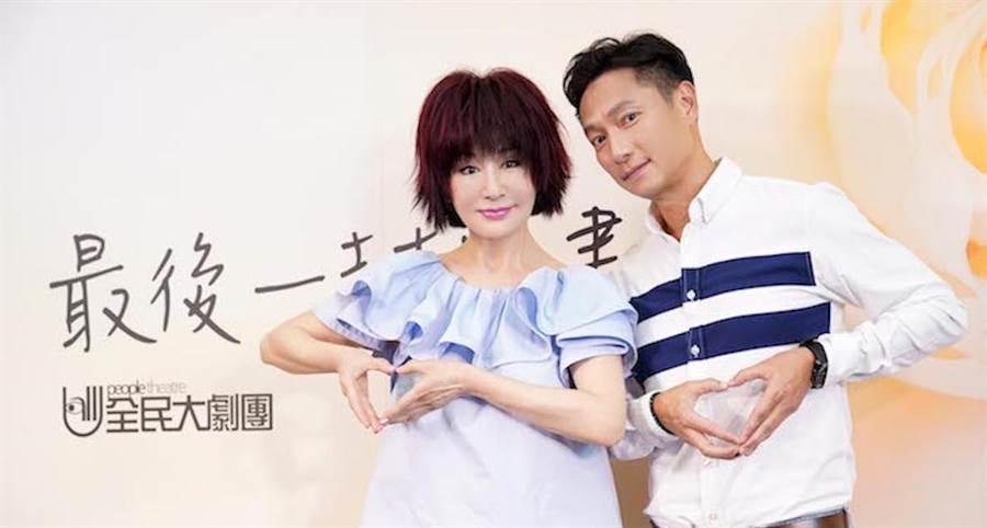 潘迎紫(左)和謝祖武今早出席記者會。全民大劇團提供