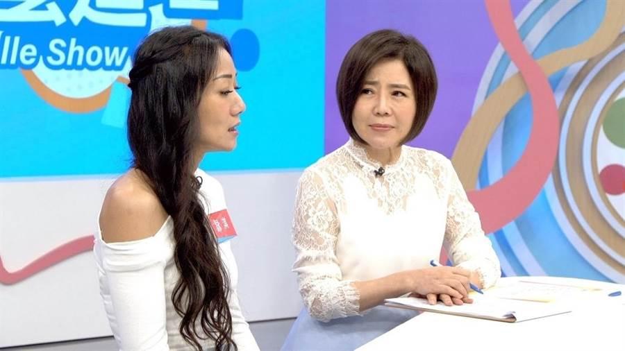 馬如龍女兒黃詠淇接受于美人訪問談喪子與喪父心路歷程。(東風衛視)