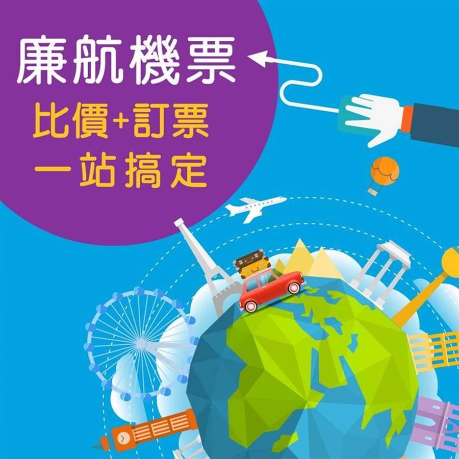 (大型綜合旅行社可樂旅遊搶攻自由行商機,推出「廉價航空比價系統』,並自即日起全新上線。圖/可樂旅遊提供)