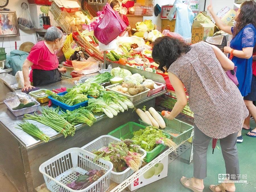 颱風後菜價漲怎辦?譚敦慈3招解決。(資料照 黃意涵攝)