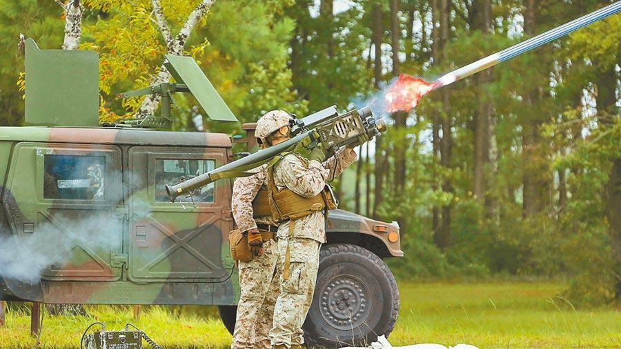 美方首度售我250枚人攜式短程防空刺針飛彈。(取自美國海軍陸戰隊官網)