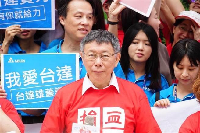 台北市長柯文哲連日來對民進黨炮火全開,今天二度痛罵行政院長蘇貞昌「不要臉」。(北市府提供)