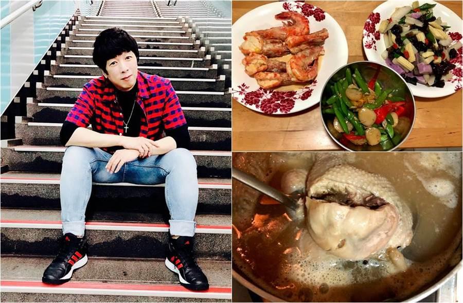 曹西平打包三道菜和雞湯,愛惜食物網讚爆。(圖/取材自曹西平的粉絲愛團臉書)