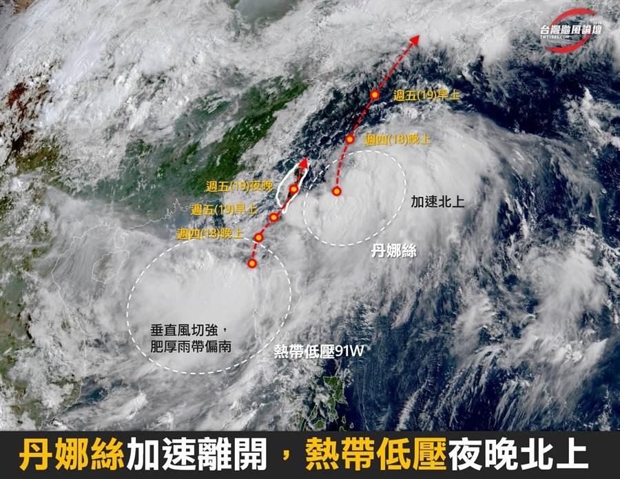 翻攝台灣颱風論壇