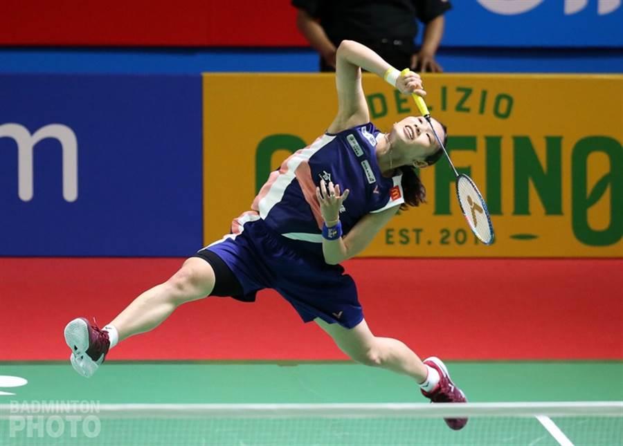戴資穎直落二解決泰國選手布莎南,晉及印尼公開賽女單八強。(Badminton Photo提供)
