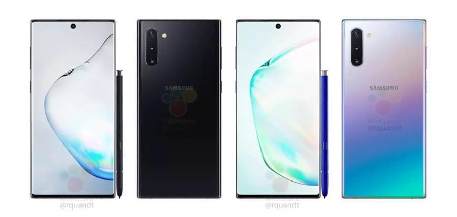 三星 Galaxy Note 10 宣傳圖疑提前曝光。(圖/翻攝winfuture.de)
