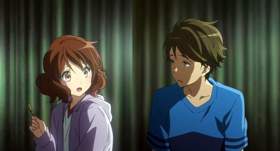 網上有一說認為,縱火犯燒京阿尼,是因為女主角黃前久美子與男主角塚本秀一確定戀人關係。(圖/吹響吧上低音號名言 twitter)