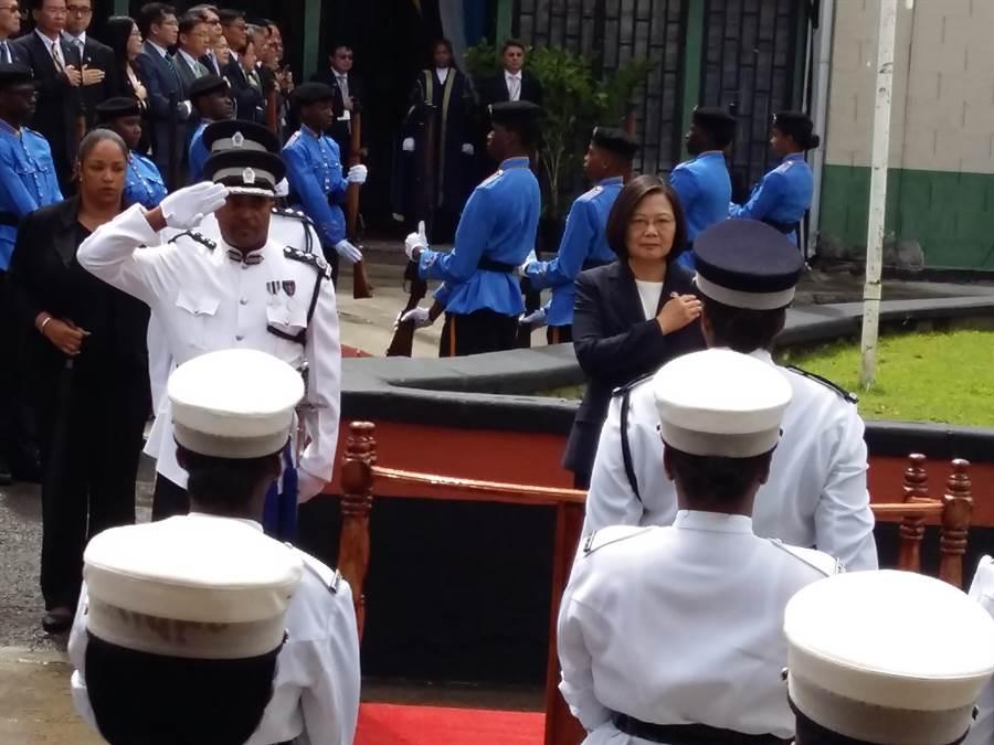 蔡英文总统赴圣露西亚国会演说。(崔慈悌摄)
