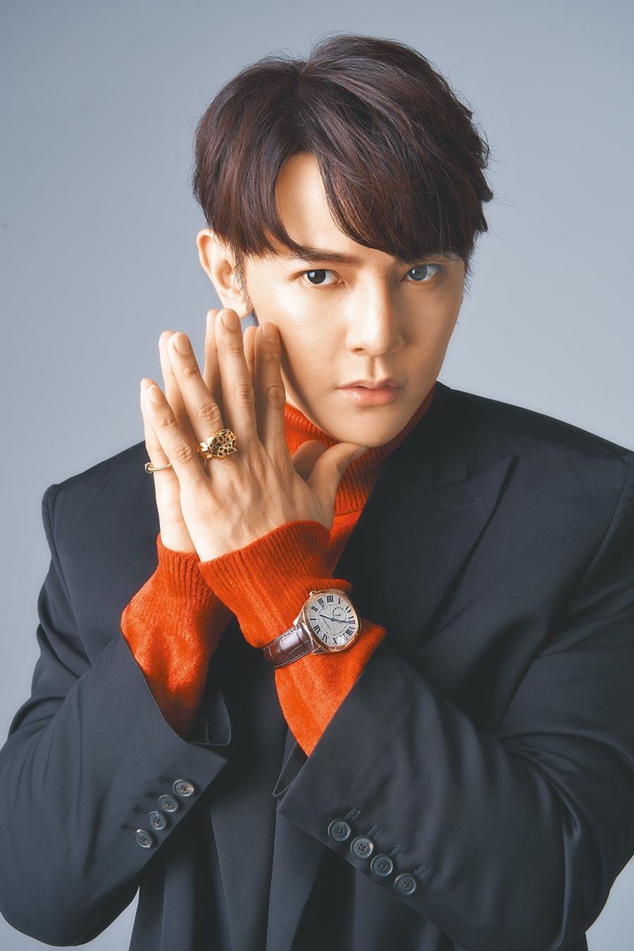 汪東城趁著拍戲空檔返台接受本報專題棚拍,開心重返他熱愛的時尚。(JOJ PHOTO攝)