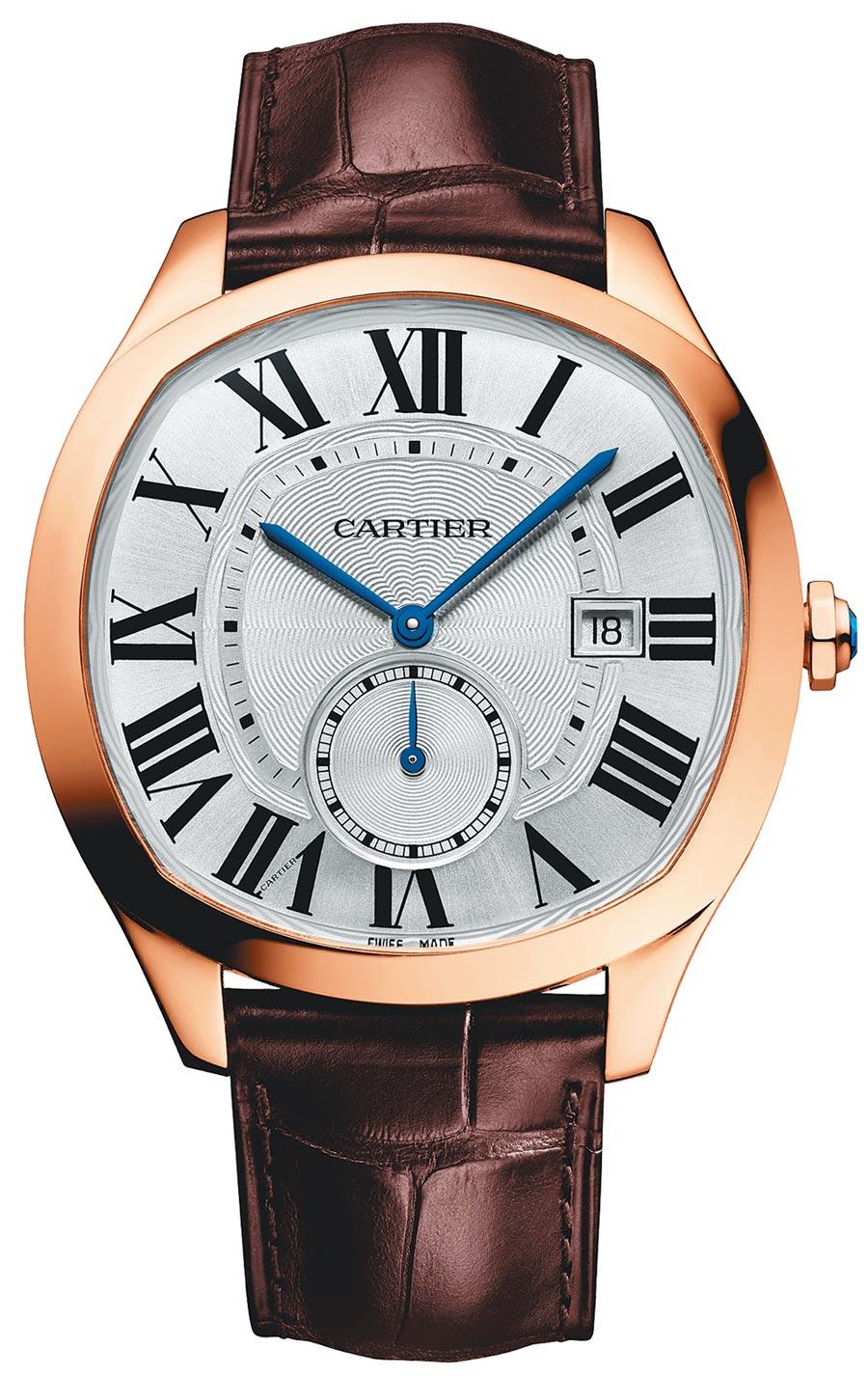 卡地亞Drive de Cartier腕表,玫瑰金表殼、自動上鍊機芯1904MC,59萬5000元。(Cartier提供)