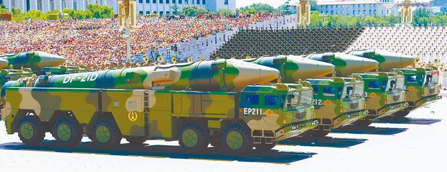 解放軍東風21D。(新華社資料照片)