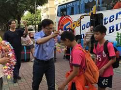 中市國安國小足球隊揚威海外 張廖萬堅加油按讚
