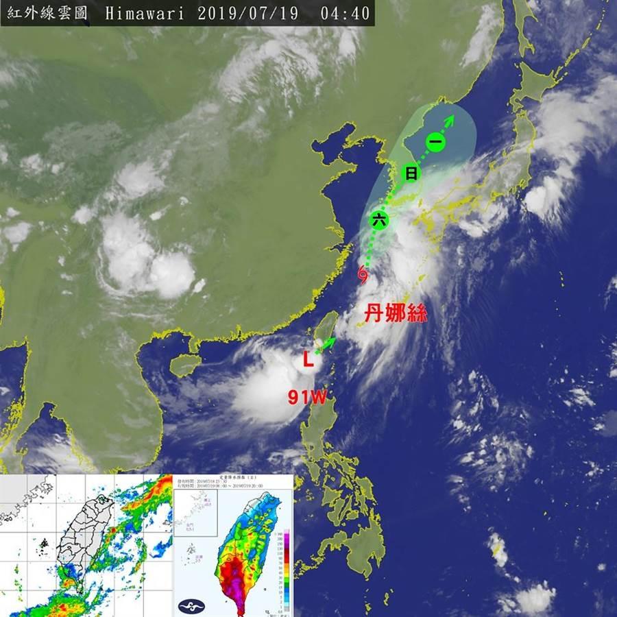 紅外線雲圖。(翻攝台灣颱風論壇|天氣特急)
