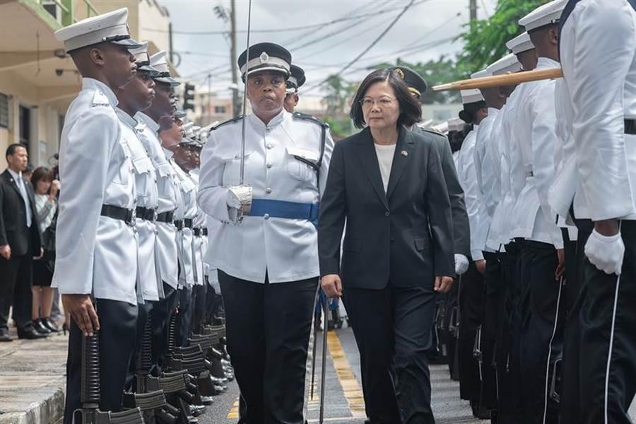 總統蔡英文出訪友邦聖露西亞,並於國會發表演說。(圖/總統府提供)